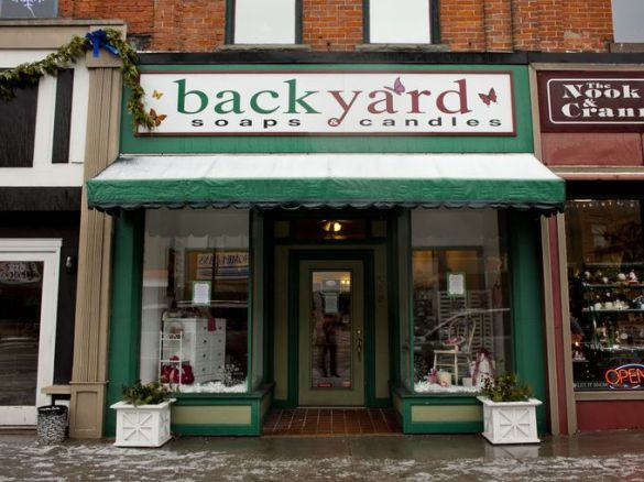 Backyard Soaps and More, 215 Huron Avenue, is looking for a buyer. (Jeffrey Smith | Times Herald)